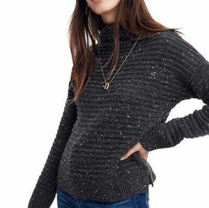 Madewell Belmont Donegal mock turtleneck sweater